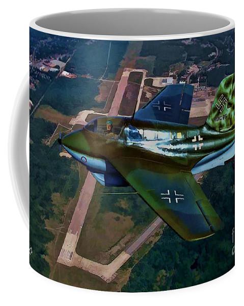 Messerschmitt Me 263 Komet Coffee Mug featuring the digital art Rocket Man by Tommy Anderson