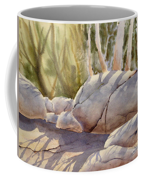 Sunlight Coffee Mug featuring the painting Rolling Rocks by Mohamed Hirji