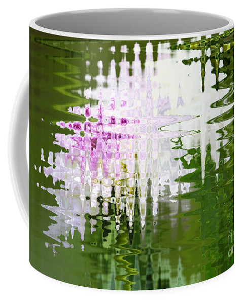 Abstract Coffee Mug featuring the photograph Romance In Paris - Abstract Art by Carol Groenen