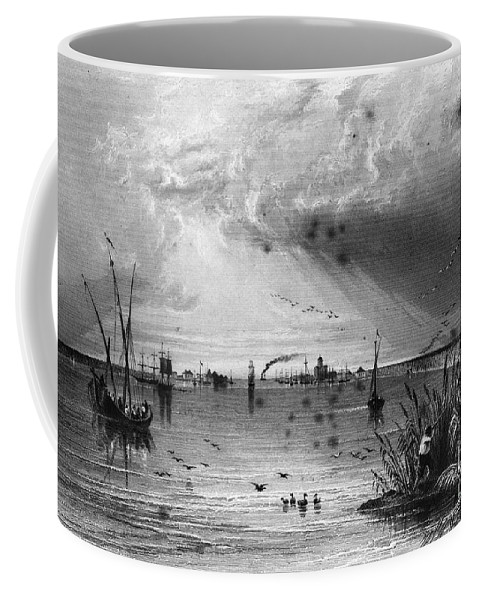 1844 Coffee Mug featuring the photograph Romania: Mouth Of Danube by Granger