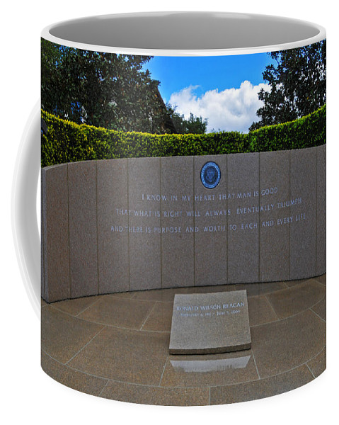 Reagan Library Coffee Mug featuring the photograph Ronald Reagan Memorial by Lynn Bauer