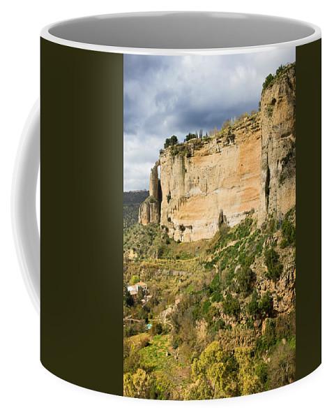 Andalucia Coffee Mug featuring the photograph Ronda Rock In Andalusia by Artur Bogacki