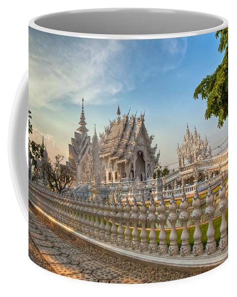 Hdr Coffee Mug featuring the photograph Rong Khun Temple by Adrian Evans