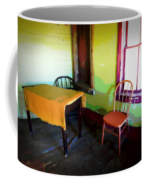 Art Coffee Mug featuring the photograph Room With Red Chair by Randall Nyhof