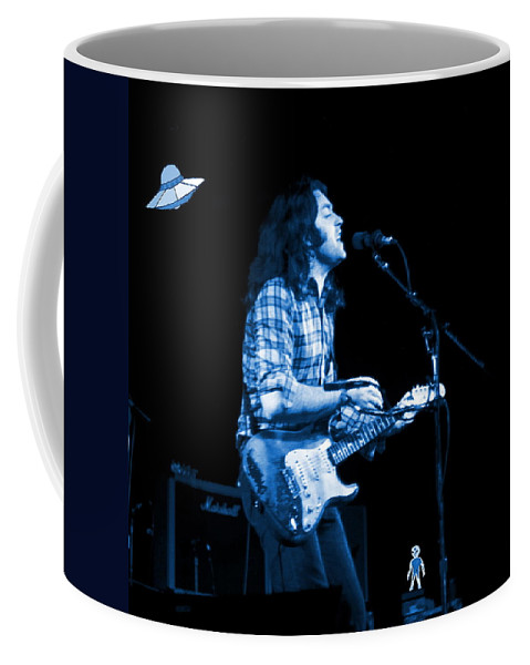 Rock Musicians Coffee Mug featuring the photograph Rory With Special Blues Guests by Ben Upham