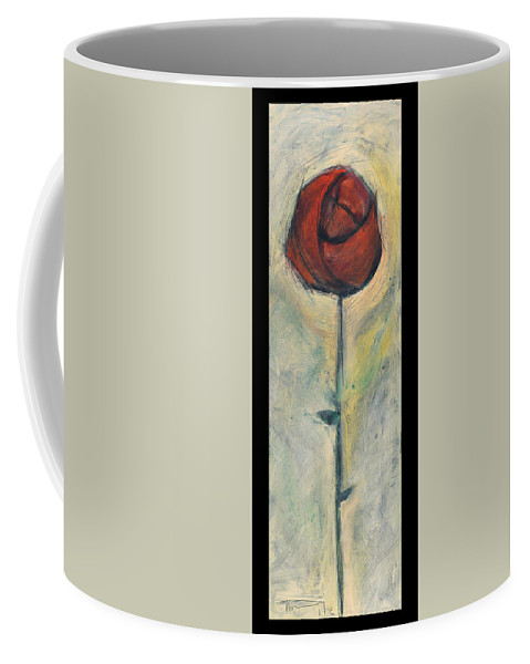 Rose Coffee Mug featuring the painting Rose by Tim Nyberg