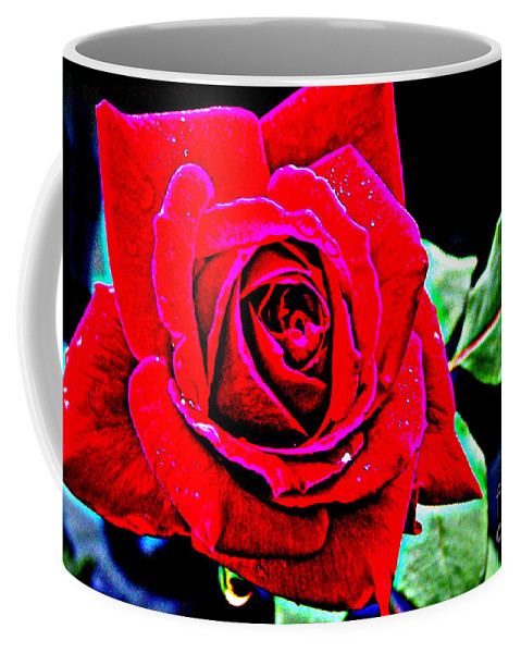 Red Rose Coffee Mug featuring the photograph Rosemania by Kathy White