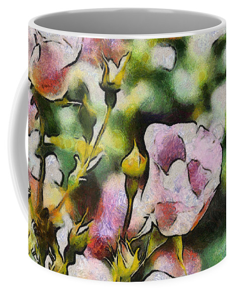 Rose Coffee Mug featuring the photograph Roses At The Shrine by Trish Tritz