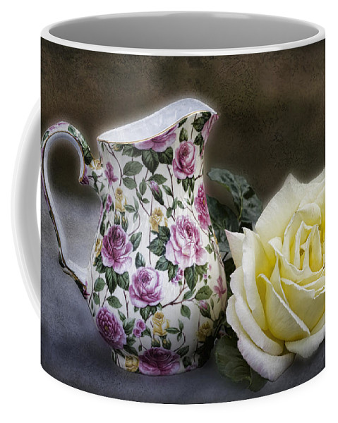 Rose Coffee Mug featuring the photograph Roses Speak Of Romance by Kathy Clark