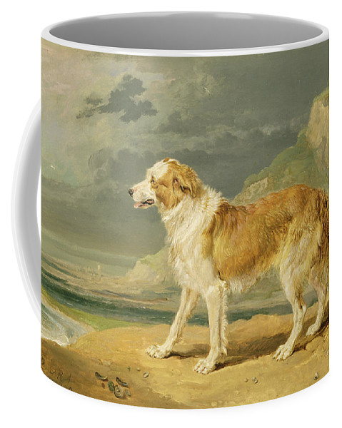 Xyc217381 Coffee Mug featuring the photograph Rough-coated Collie by James Ward
