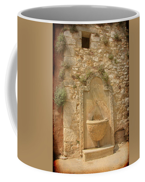 Fountain Coffee Mug featuring the photograph Roussillon Fountain by Carla Parris