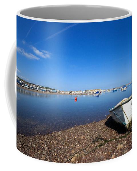 Shaldon Coffee Mug featuring the photograph Rowing Boat At Shaldon by Rob Hawkins