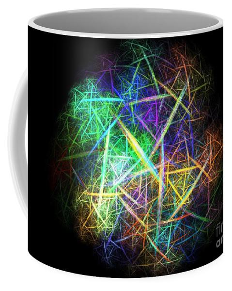 Apophysis Coffee Mug featuring the digital art Rubber Ball by Kim Sy Ok