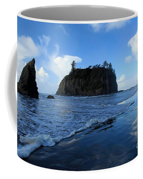Ruby Beach Coffee Mug featuring the photograph Ruby Blues by Adam Jewell