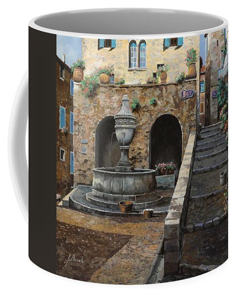 Cityscape Coffee Mug featuring the painting Rue Du Bresc A St Paul De Vence by Guido Borelli