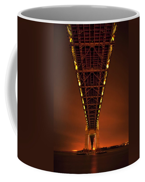 Verrazano Coffee Mug featuring the photograph Run Through The Night by Evelina Kremsdorf