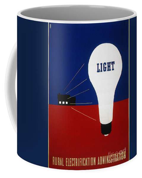 1937 Coffee Mug featuring the photograph Rural Electrification 1937 by Granger