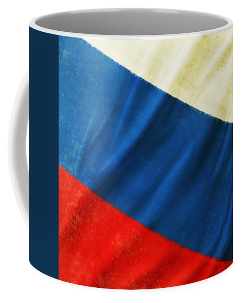 Chalk Coffee Mug featuring the photograph Russia Flag by Setsiri Silapasuwanchai