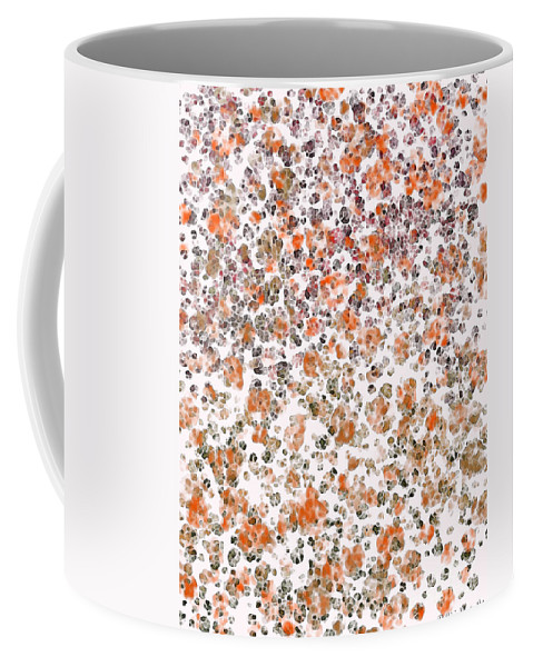 Abstract Coffee Mug featuring the digital art Rustic Red Abstract by Debbie Portwood