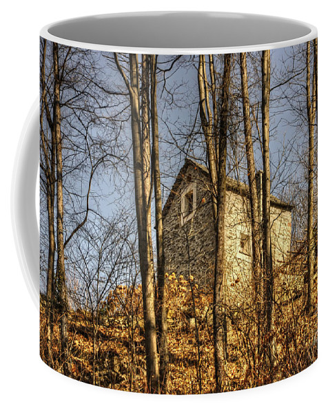 House Coffee Mug featuring the photograph Rustic Stone House by Mats Silvan