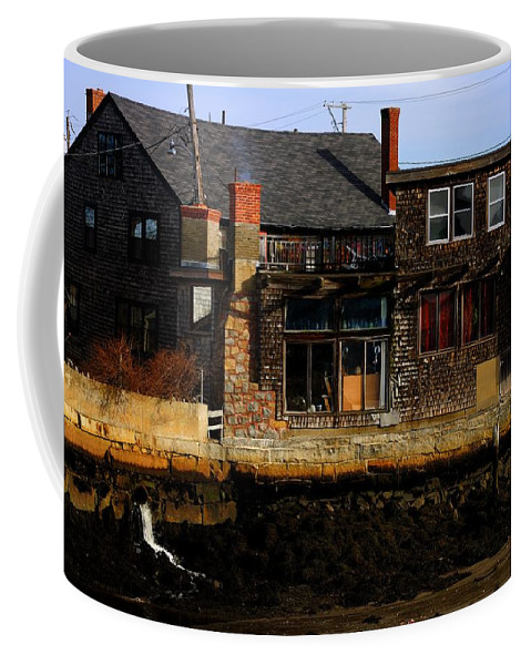 Rockport Coffee Mug featuring the photograph Rustic Waterfront by Mark Valentine
