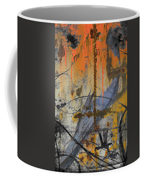 Abstract Coffee Mug featuring the photograph Rusty Crow by The Artist Project