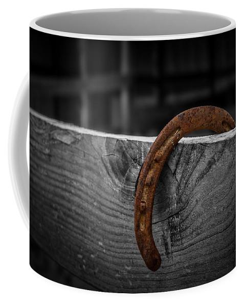 Horse Shoe. Shoe Coffee Mug featuring the photograph Rusty Shoe by Doug Long