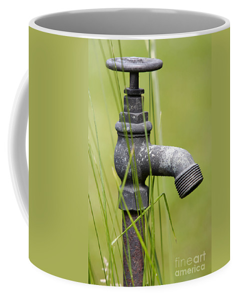 Hydrant Coffee Mug featuring the photograph Rusty Water Supply Point by Michal Boubin