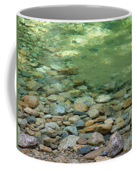 Rocks Coffee Mug featuring the photograph Sabbath Day Pool by Nancy Griswold