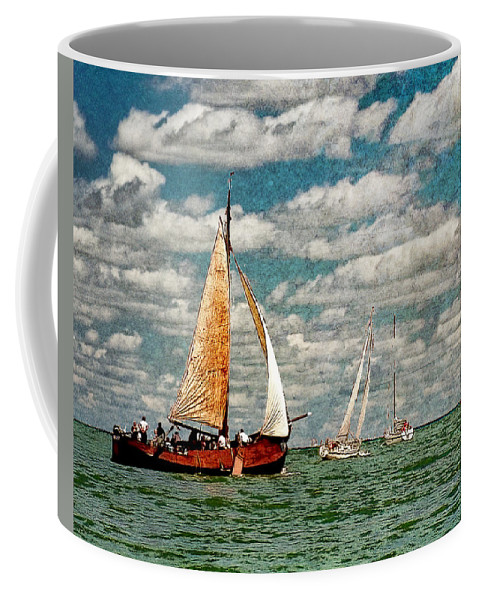 Art Coffee Mug featuring the photograph Sailboats In The Netherlands By The Zuiderzee by Randall Nyhof