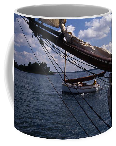 Me Coffee Mug featuring the photograph Sailing Coastal Maine by Skip Willits