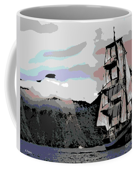 Boat Coffee Mug featuring the photograph Sailing Ship by George Pedro