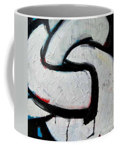 Sailor Coffee Mug featuring the painting Sailor Knot 2 - Bowline Knot Detail by Ana Maria Edulescu