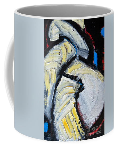 Sailor Coffee Mug featuring the painting Sailor Knot 3 - Figure Eight Knot by Ana Maria Edulescu