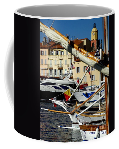 Boats Coffee Mug featuring the photograph Saint Tropez Harbor by Lainie Wrightson