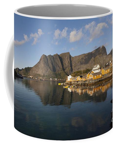 Norway Coffee Mug featuring the photograph Sakrisoy Fishermen's Village II by Heiko Koehrer-Wagner