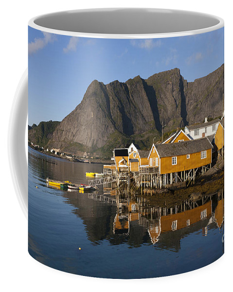 Norway Coffee Mug featuring the photograph Sakrisoy by Heiko Koehrer-Wagner
