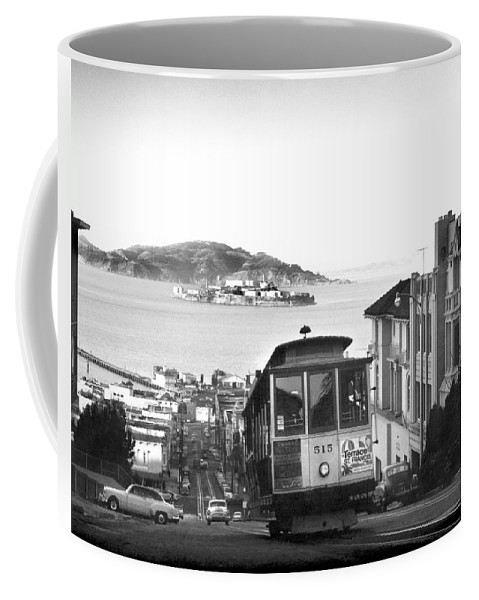 1950's Coffee Mug featuring the photograph San Francisco Cable Car by Underwood Archives