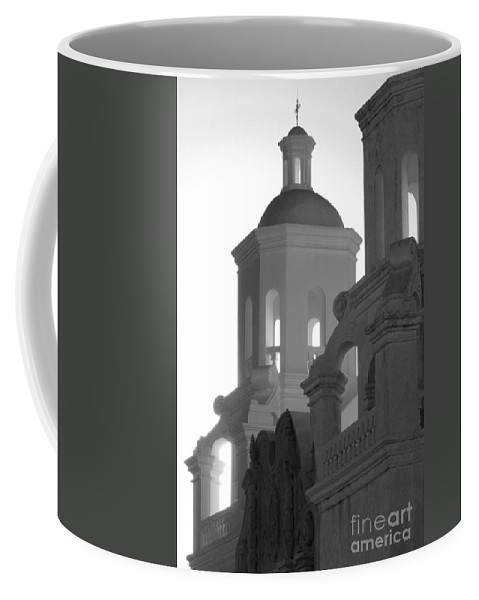 San Xavier Del Bac Mission Coffee Mug featuring the photograph San Xavier Del Bac Mission Tucson by Bob Christopher