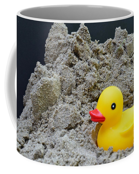 Sand Coffee Mug featuring the photograph Sand Pile And Ducky by Randy J Heath