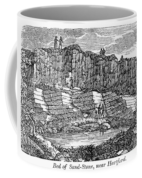 1840 Coffee Mug featuring the photograph Sandstone Quarry, 1840 by Granger