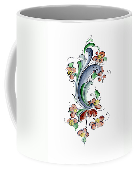 Cultural Connections Coffee Mug featuring the painting Scandinavian Flower I by Judy Dodds