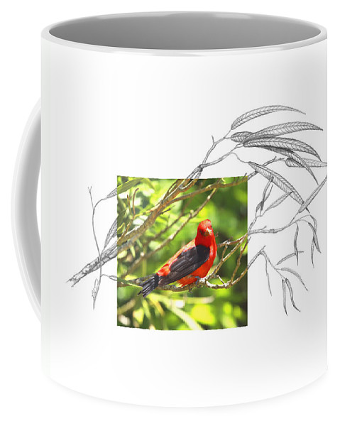 Scarlet Tanager Coffee Mug featuring the photograph Scarlet Tanager by Andrew McInnes
