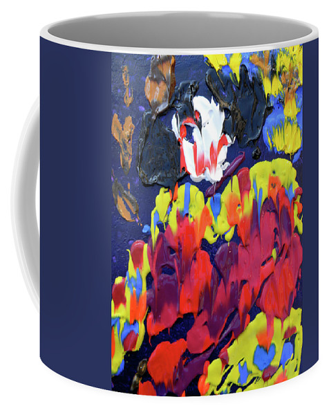 Clown Coffee Mug featuring the painting Scary Clown by Marwan George Khoury