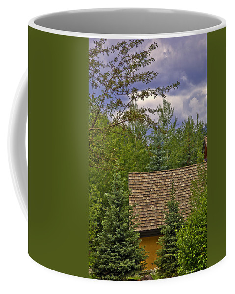Colorado Coffee Mug featuring the photograph Scene Through The Trees - Vail by Madeline Ellis