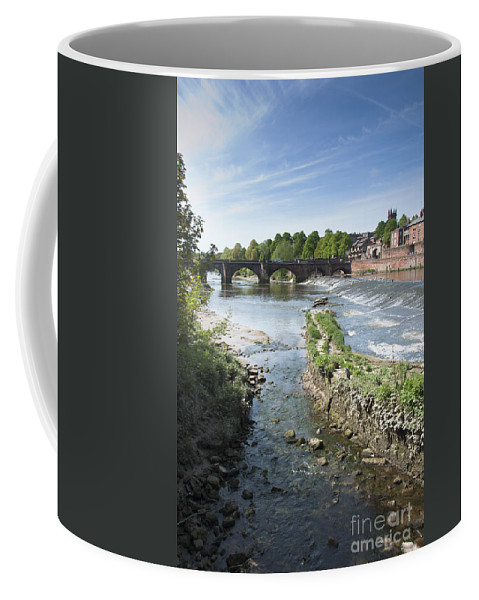 2011 Coffee Mug featuring the photograph Scenic Landscape With Old Dee Bridge by Andrew Michael