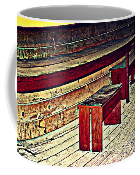 Old West School House Coffee Mug featuring the photograph School House Benched And Dusted by Diane montana Jansson