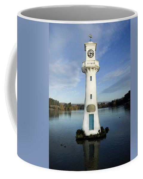 Scott Memorial Coffee Mug featuring the photograph Scott Memorial Roath Park Cardiff by Steve Purnell