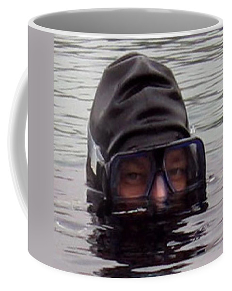 Navy Seal Coffee Mug featuring the photograph Scuba Diver by Paul Ward