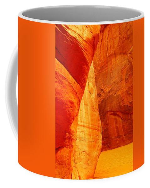Sand Coffee Mug featuring the photograph Sculptured By The Wind by Jeff Swan